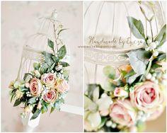 Wedding decoration, metal cage
