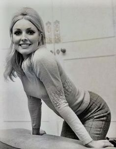 Sharon Tate, photographed in her London apartment
