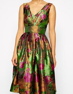 Enlarge ASOS Floral Jacquard Prom Dress