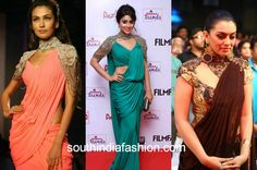 saree gown collage 5