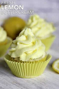 Fresh Lemon Buttercream Frosting - Spend With Pennies