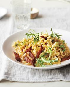 Fusilli Carbonara with Frisee and Lemon Recipe   Martha Stewart
