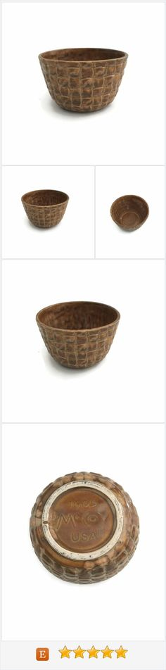 McCoy Pottery, McCoy Planter, Vintage Pottery Planter, Basket Weave Planter