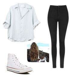 """""""Flawless and Flowy"""" by julietlove2002 on Polyvore featuring Topshop and Converse"""
