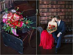 букет невсты, красный букет, цветы, амариллис, ранункулюс