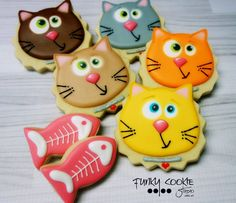 Cat cookies by Jill FCS