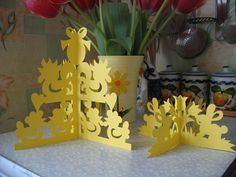 Easter paper crafts: kirigami art