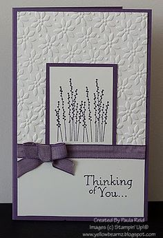 Monochromatic sympathy card  so simple and beautiful---with Stampin up's pocket silouette stamp and petals a plenty embossing folder