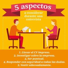 5 aspectos a considerar durante una entrevista.