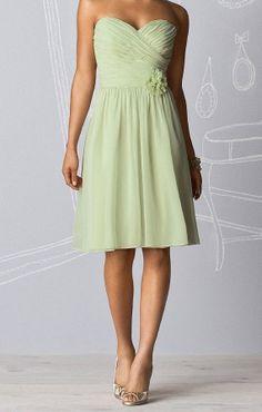 Sage Bridesmaid Dress Sweetheart Kneelength by harsuccthing, $91.00