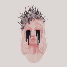 my own illustration about sadness Web Design, Graphic Design, Behance, Concept, Ceiling Lights, Sadness, Creative, Illustration, Artist