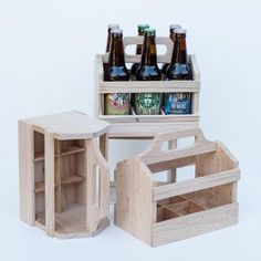 Wooden 6-Pack Beer Carrier