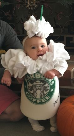 Starbucks Halloween Costume for a Baby