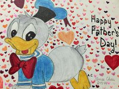 Baby Donald Duck! I drew this for my dad on 2014 Fathers Day. #Disney #FathersDay