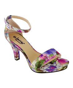 Purple Floral Sandal