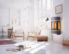 Scan Wall er som et vakkert kunstverk på veggen - Ildstedet Home Appliances, Wood, Modern, Furniture, Design, Stoves, Home Decor, Fireplaces, Image
