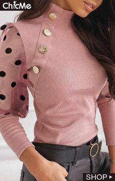 Classy Work Outfits, Chic Outfits, Fashion Outfits, Fast Fashion, Look Fashion, Womens Fashion, Blouse Styles, Blouse Designs, Moda Chic