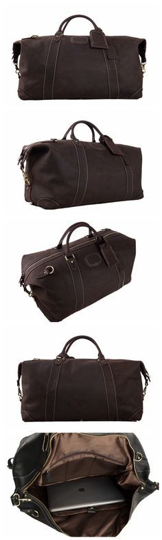 e2757e7389 Genuine Leather Travel Bag Men s Duffle Bag Large Capacity Gym Bag With  Shoulder Strap Holdall Travel