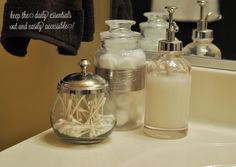 The Small Things Blog: Start Your Holidays : Holiday Organization, Part 2 Bathroom Organization for Guests