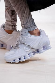 size 40 5474d faf16 COMME des GARCONS Nike Shox Sneaker White Spring Summer 2019 Show Paris  Fashion Week White