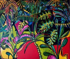 Lockdown - Thinking of Zanzibar 2020 Acrylic on canvas 91 x 76 Fun Travel, Paintings, Watercolor, Abstract, Canvas, Artwork, Idea Paint, Art Production, Pen And Wash