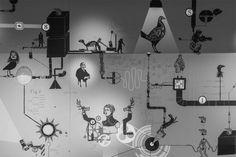 Mécaniques Discursives at Nemo Festival 2012 / Paris / F #MecaniquesDiscursive #FredPenelle #YannickJacquet #VideoMapping #woodcut