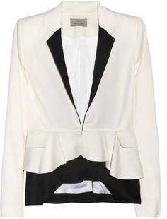 ShopStyle: Preen Contrast Ripple wool-twill jacket