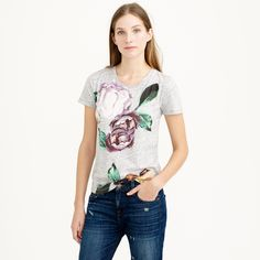 Exploded floral tee  J.Crew