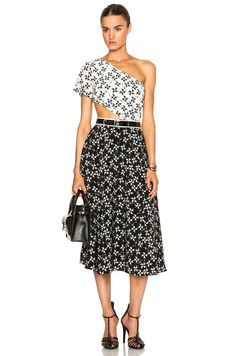 Image 1 of Tanya Taylor Amy Dress in Spur Black & White