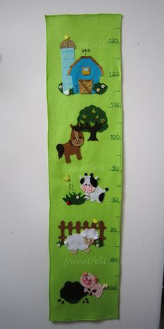 Farm themed growth chart