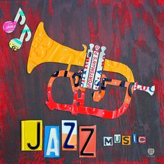 License Plate Art Jazz Series Number One Trumpet Mixed Media by Design Turnpike