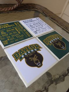 Baylor University Coasters // These would definitely come in handy in the office...