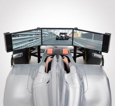 Formula 1 Racing Car Simulator by Headlines & Heroes, via http://headlinesandheroes.com/gadgets/formula-1-racing-car-simulator/