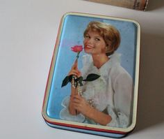 Vintage Bensons Confectionery Tin of Blonde with Pearls and Rose by GryphonVintage on Etsy https://www.etsy.com/listing/127586258/vintage-bensons-confectionery-tin-of