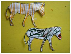 Zebra Unit: Printable Zebra Outline to paint stripes onto