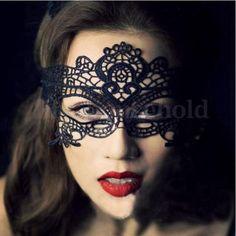 Augenmaske-Gesichtsmaske-Halloween-Party-Kostuem-Karneval-Lace-Spitzen-Maske