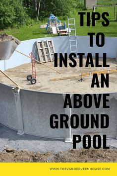 Are you thinking of installing your own above ground pool? Here are my tips to install your own above ground pool. We learned a lot. Learn from our mistakes on your own above ground pool installation. above ground pool landscaping Oberirdischer Pool, Diy Pool, Swimming Pools Backyard, Best Above Ground Pool, Above Ground Swimming Pools, In Ground Pools, Deck Ideas For Above Ground Pools, Diy In Ground Pool, Rectangle Above Ground Pool