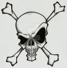 Skull and Crossbones by Ashes360.deviantart.com on @DeviantArt