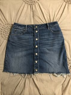 e8f67b9aeae47 Abercrombie And Fitch High Rise Denim Skirt Size 27  fashion  clothing   shoes
