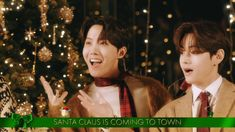 BTS Sings 'Santa Claus Is Comin' To Town' - The Disney Holiday Singalong Merry Christmas Google, Bts Christmas, Holiday, Jimin, Jungkook And Jin, Boy Scouts, Nct 127, Shinee, The Scene