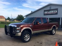 """2008 Ford F-250 with 2.5"""" level kit front, a 3.8"""" block rear, and 35x12.50r20 Toyo R/T tires.  @ford No Limits Motorsport - Plainwell, MI."""