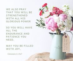 May you and your loved one be strengthened with the glorious power of the Lord. He will provide you with all the endurance and patience you need for each day. God is joy. May He fill your heart with joy no matter what your circumstances may be. 21 Days, Your Heart, Patience, Pray, Fill, Cancer, Lord, People, Folk