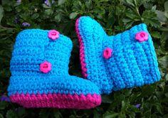 Crochet Baby Girl Shoes by BettyBoopCrochet on Etsy, $25.00