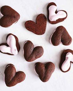 Whoopie Hearts with Raspberry Meringue