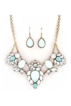 Anne Marie Necklace Set in Aspen Blue