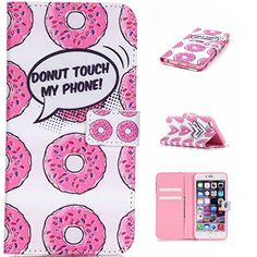 iPhone SE Case, iPhone 5S Leather Case,iPhone 5 Cover,Flip Wallet case for iPhone SE,Donut Patterned PU Leather Stand Function Protective Cases Covers with Card Slot Holder Wallet Book Design Fordable Magnet Closure Case for iPhone 5/5S/SE