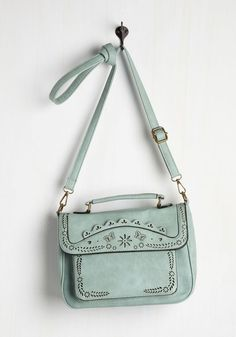 Leave Your Mark Bag in Mint. Your daily ensembles are unforgettable and this crossbody bag is a definite contribution! #mint #modcloth
