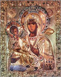 Three-handed Virgin, the most sacred icon of the Serbian Orthodox Church. It is roughly 1000 years old and is housed in the Hilander, one of the 20 monasteries on Mt. Athos.