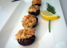 Ideal Protein: crab stuffed mushrooms
