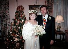 1997 Wedding of actress Rue McClanahan and sixth (and last) husband Morrow Wilson. They were married 13 years before her death in Star Wedding, Wedding Pics, Wedding Couples, Wedding Bells, Celebrity Wedding Photos, Celebrity Couples, Celebrity Weddings, 1960s Wedding, Vintage Weddings